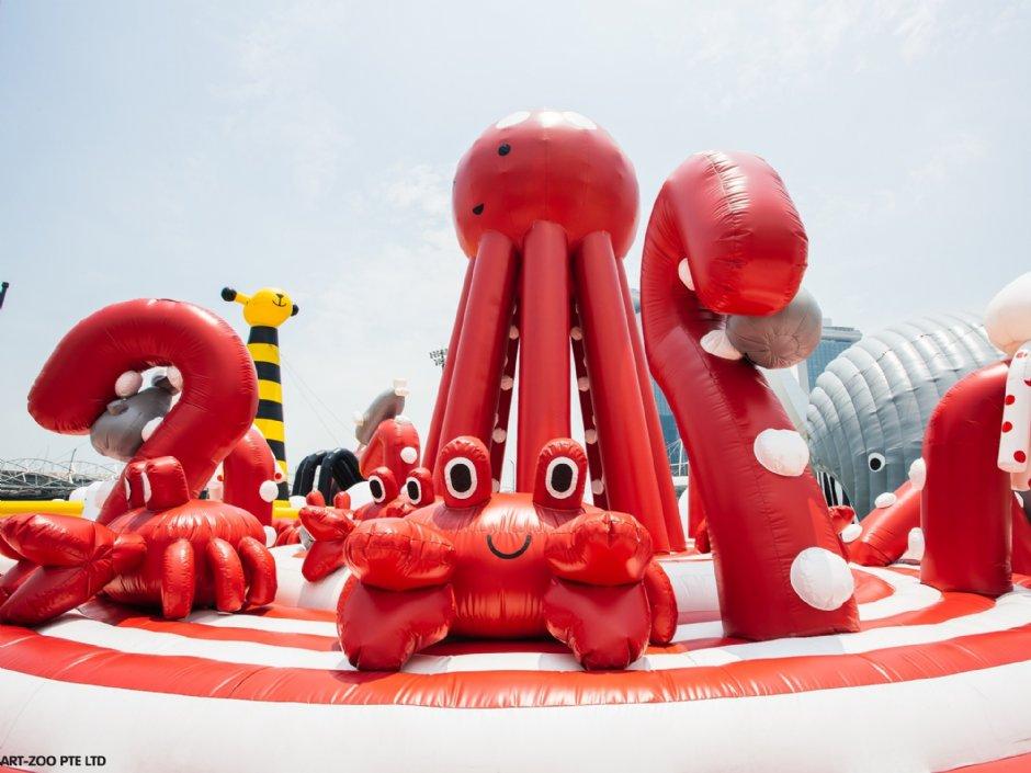 可愛程度破錶的海底世界氣墊設施