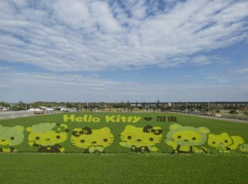 Hello Kitty現身彩稻田!屏東熱帶農業博覽會2/3熱鬧開園