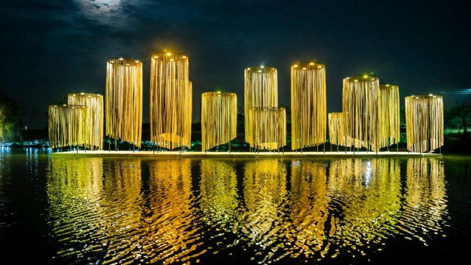 月津港燈節作品之一:【無關】/禹禹藝術工作室