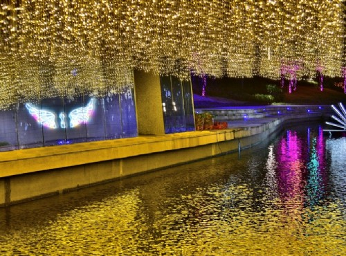 浪漫夜景期間限定!台中河岸光景藝術展 「點亮‧綠柳川」