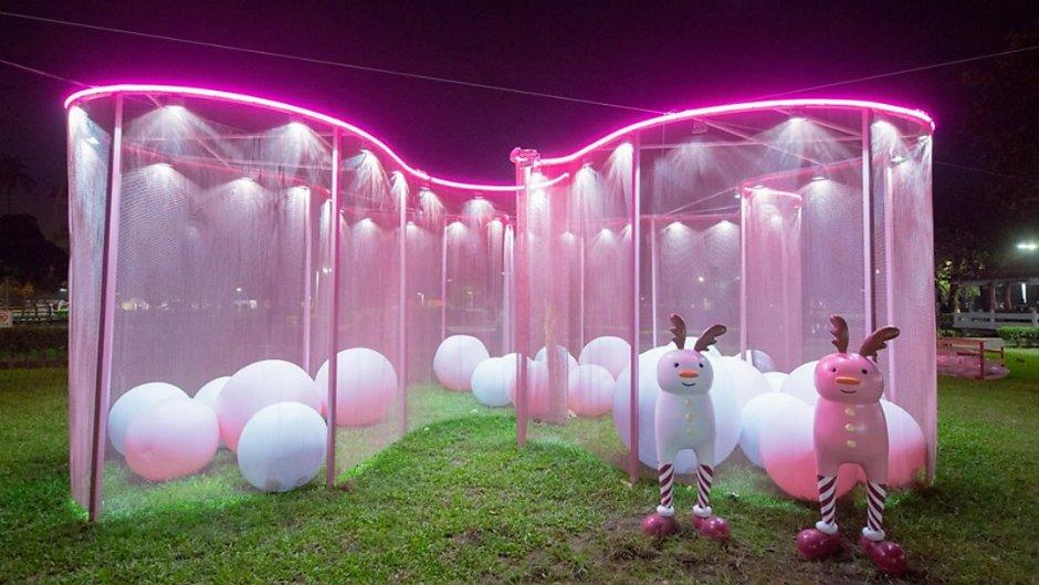 以粉紅色為主題打造的《粉紅球屋》
