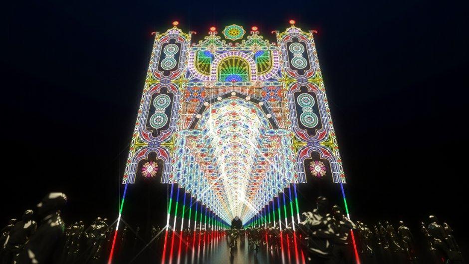 台北光之饗宴將打造華麗壯觀的燈飾