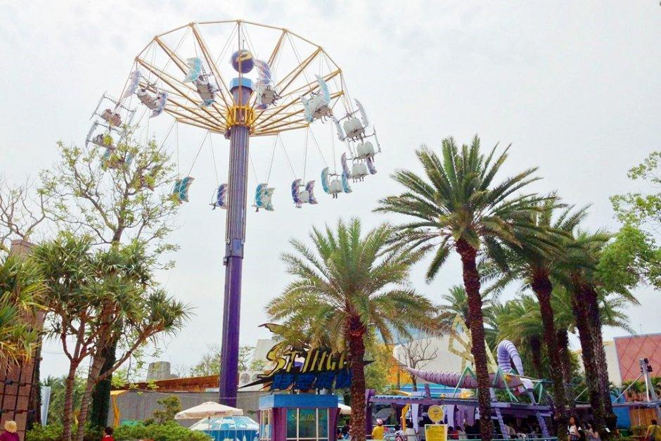 麗寶樂園有多項刺激的遊樂設施
