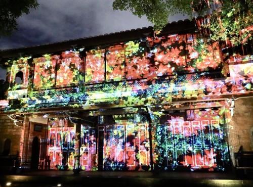 板橋林家花園夜間光雕秀,穿梭浪漫越夜越美麗!