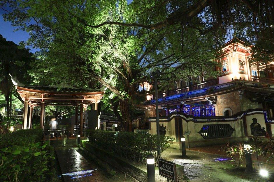 林家花園夜間光環境,多處浪漫點燈