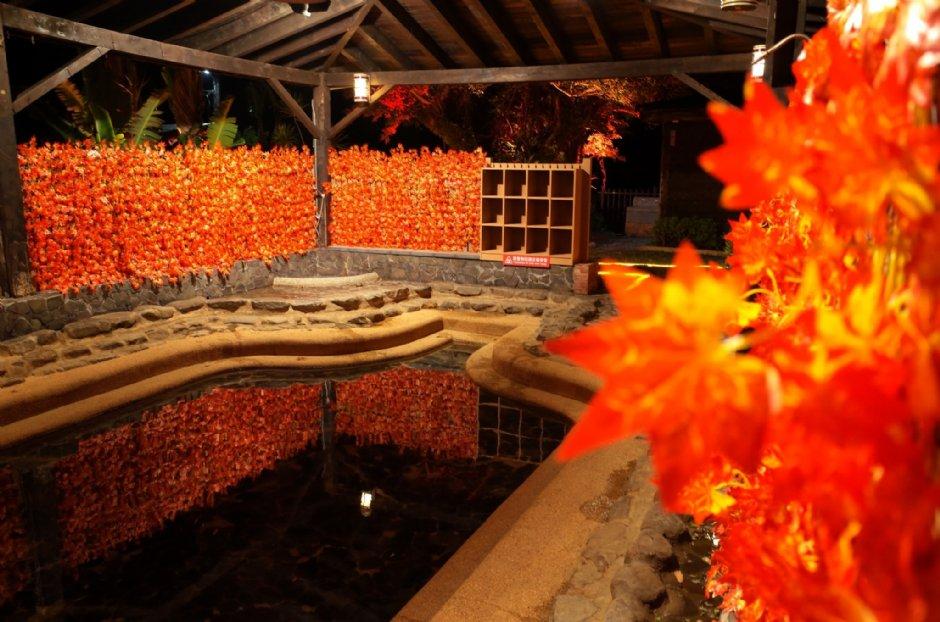 旭海溫泉浪漫日式燈飾