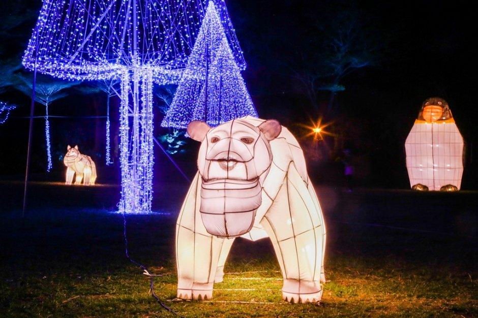 台灣燈會副燈區有可愛的巨型戽斗星球動物