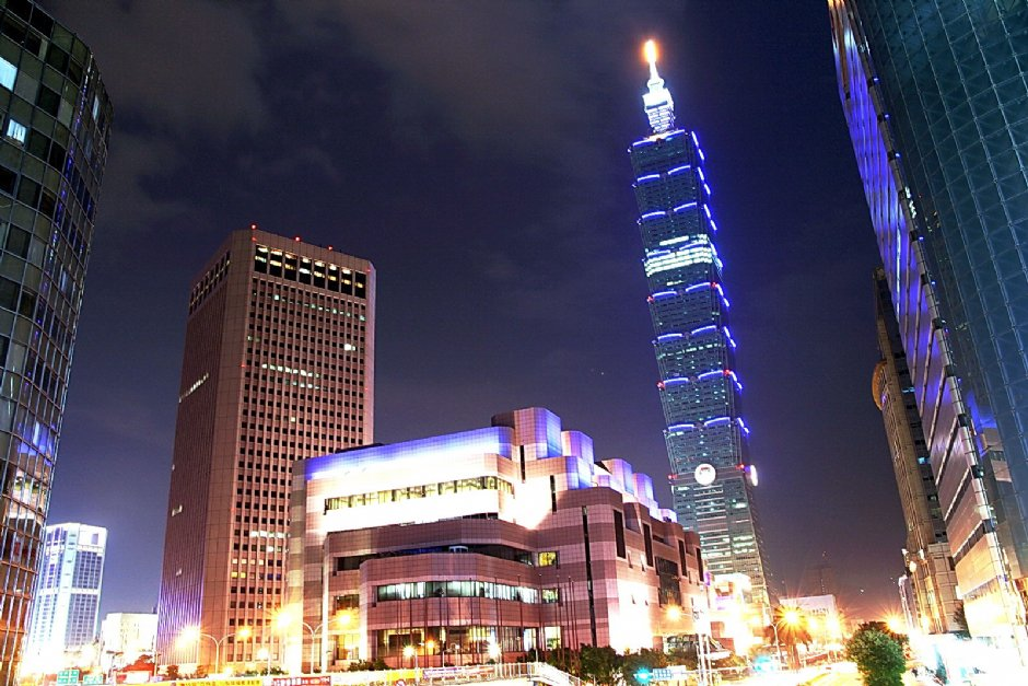 Taipei101&世貿美麗的夜景/陳銘祥
