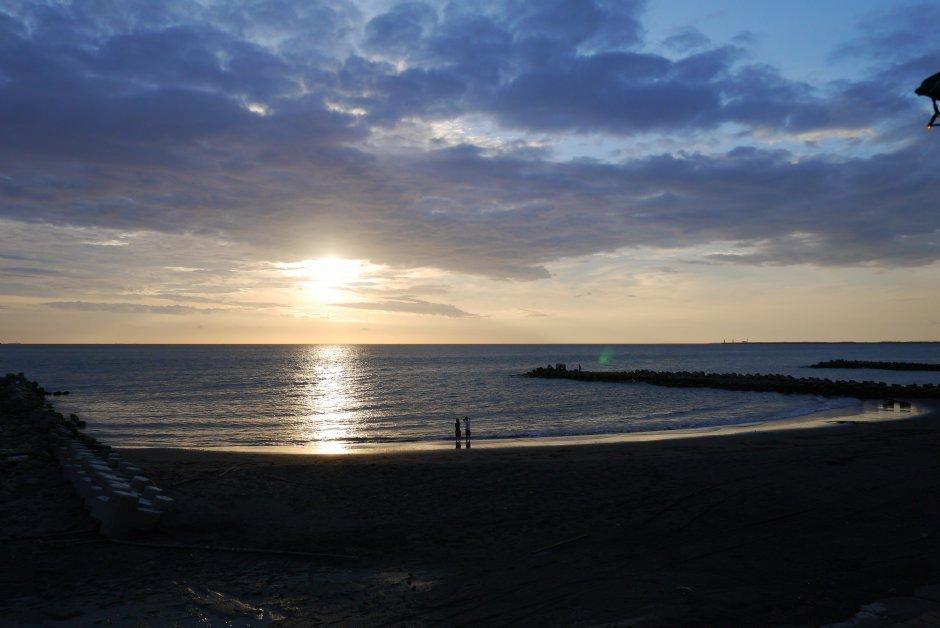 黃金海岸(鯤喜灣)-台南黃金海岸夕陽