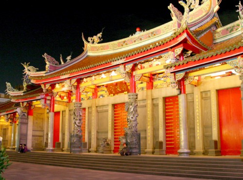 Xingtian Temple-temple at night