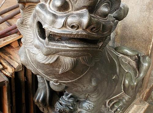 Hsinchu City God Temple-門前的石獅