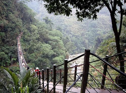 竹山梯子吊桥