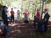 樹林裡稍做休息<br/> 攝影:阿英的登山小站
