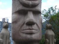 烏來風景區路邊原住民臉譜石雕<br/> 攝影:余燕鳳