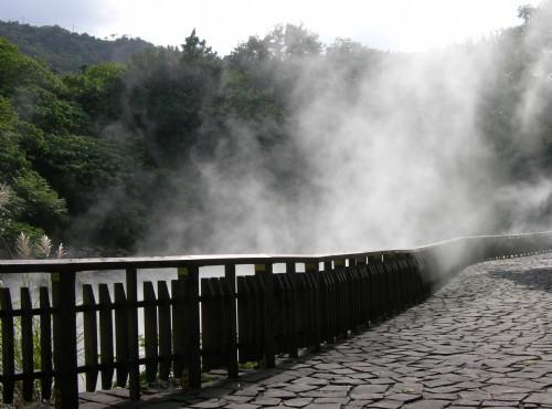 地熱谷(地熱谷景觀公園)-熱氣瀰漫整個景區