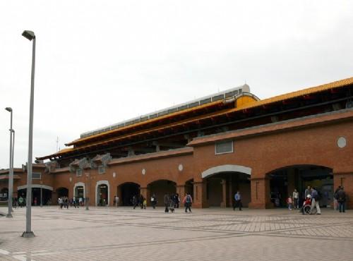 淡水捷運站-正面外觀