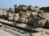 奇形塊狀的岩石景觀<br/> 攝影:老山羊部落格