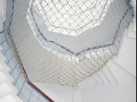 特殊設計的雙螺旋樓梯<br/> 攝影:Eva隨手拍