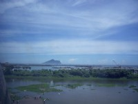 由館內遠眺龜山島<br/> 攝影:Eva隨手拍