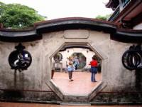 象徵福與吉利的石榴&橘子造景門<br/> 攝影:老山羊部落格