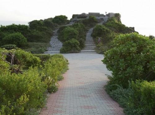 貓鼻頭公園-步道通往瞭望台
