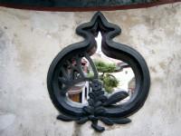 象徵福的石榴形漏窗<br/> 攝影:曾婉玲