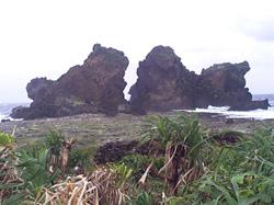 蘭嶼雙獅岩