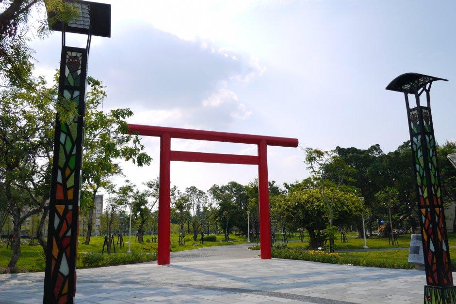 岡山中山公園-紅色鳥居