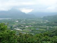 由鹿野高台眺望龍田村<br/> 攝影:Eva隨手拍