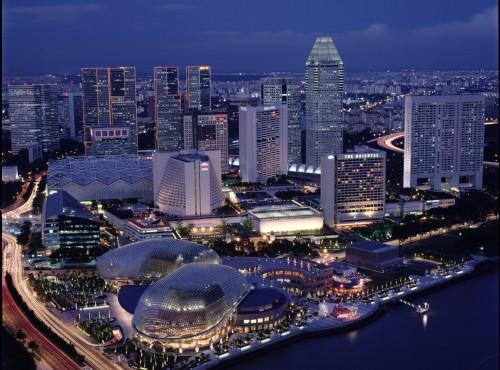 新加坡-新加坡城市鳥瞰景觀