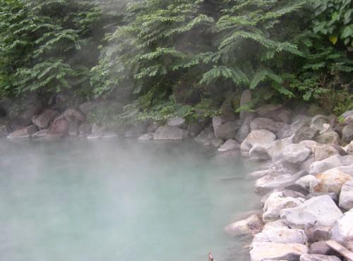 地熱谷(地熱谷景觀公園)-地熱谷溫泉近拍