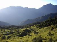合歡山山莊觀奇萊北峰景觀<br/> 攝影:老山羊部落格