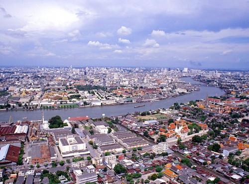 巴東海灘-湄南河畔鳥瞰