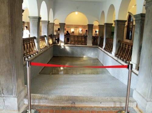 北投溫泉-館內展示日據時的浴池