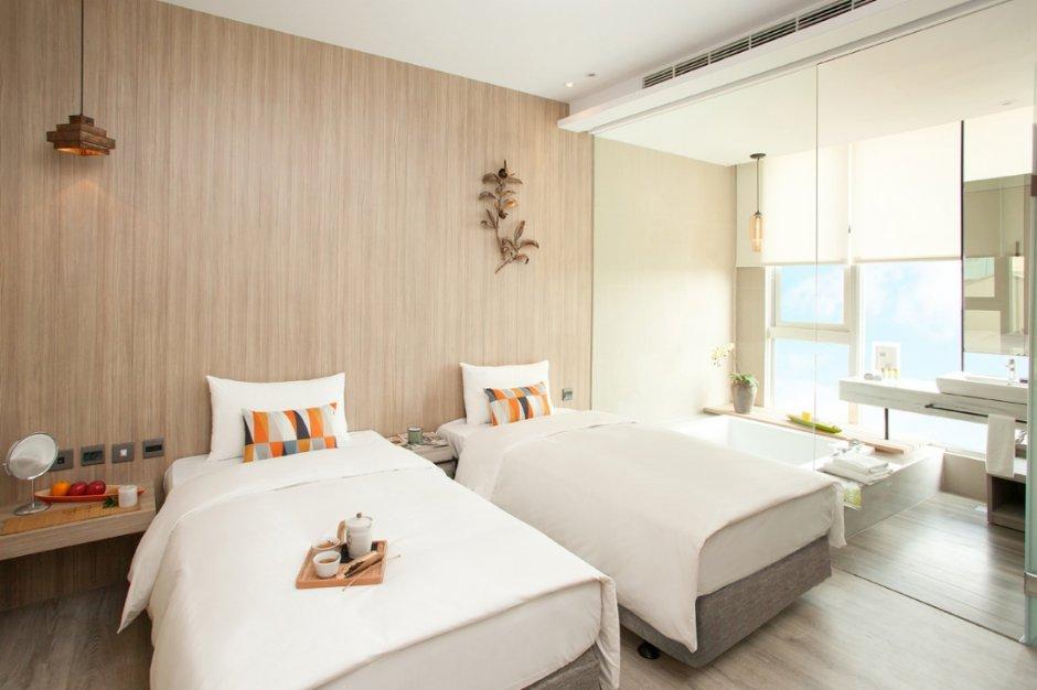 客房內採光良好,空中酒吧則可俯瞰嘉義市 / 雲登景觀飯店 提供