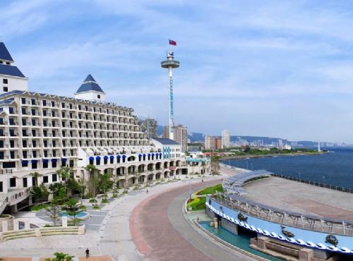 淡水福容大飯店 停泊漁人碼頭的愛之船