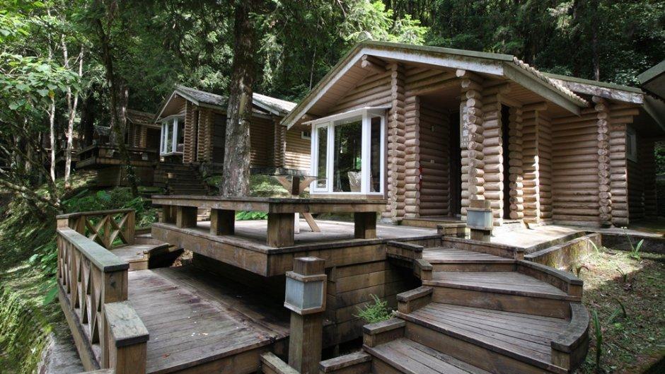 明池山莊內的林間小屋 / 明池山莊 提供