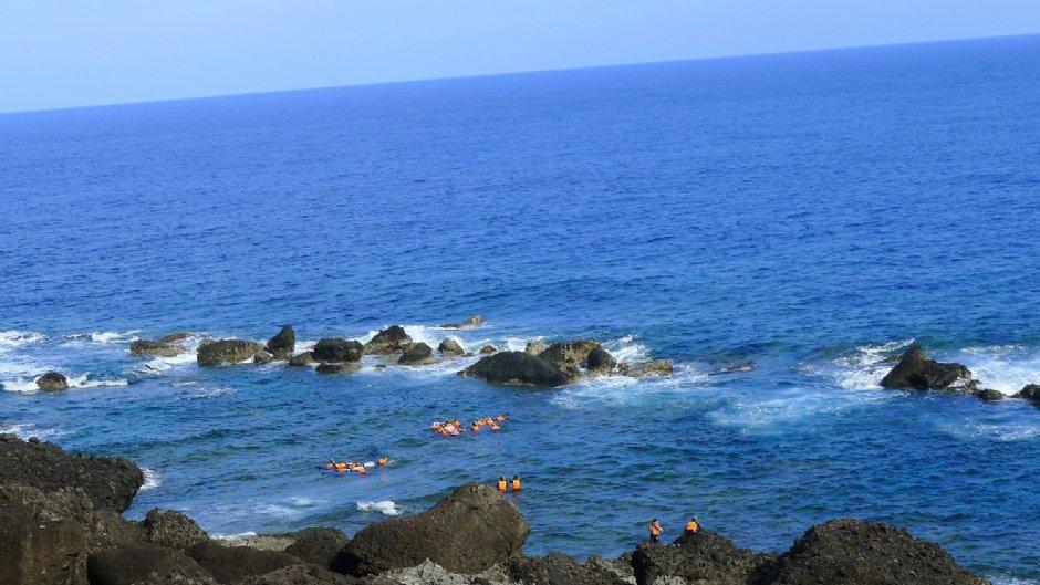 蘭嶼是著名的浮淺聖地/mimi