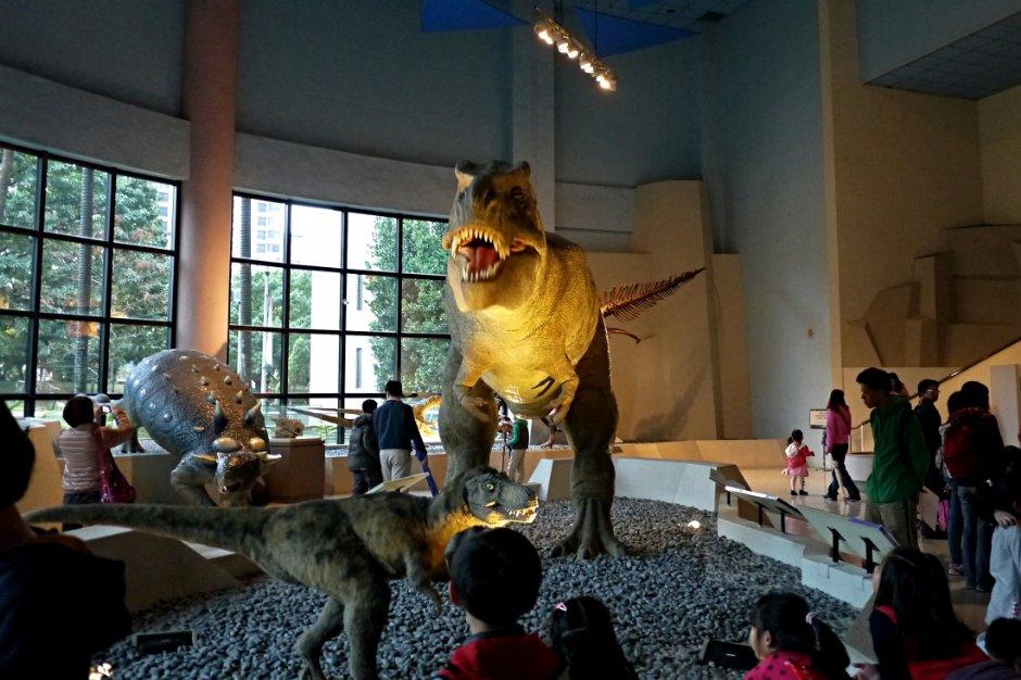 科博館中的恐龍模型 / Jacky 提供